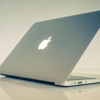 An open, working MacBook Pro