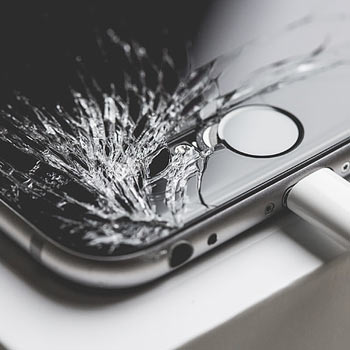 a shattered iPhone screen can be repaired by P2P in Washington DC
